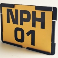 Thermoplastic Number Plate holders